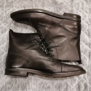 Cole Haan | Jill Lace Up Leather Boots